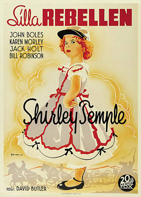 Pasta Al Dente Royalty Free Images - Movie poster for The Littlest Rebel, with Shirley Temple, 1935 Royalty-Free Image by Stars on Art