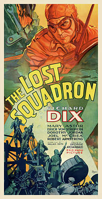 Bringing The Outdoors In - Movie poster for The Lost Squadron, 1932 by Stars on Art