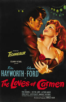 Open Impressionism California Desert Royalty Free Images - Movie poster for The Loves of Carmen, with Rita Hayworth and Glenn Ford, 1948 Royalty-Free Image by Stars on Art