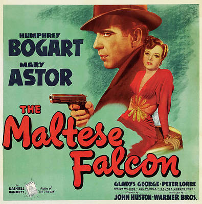 Pop Art Rights Managed Images - Movie poster for The Maltese Falcon, 1941 Royalty-Free Image by Stars on Art