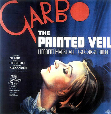 Open Impressionism California Desert Royalty Free Images - Movie poster for The Painted Veil, with Greta Garbo, 1934 Royalty-Free Image by Stars on Art