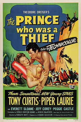 Open Impressionism California Desert Royalty Free Images - Movie poster for The Prince Who Was a Thief, with Tony Curtis and Piper Laurie, 1951 Royalty-Free Image by Stars on Art
