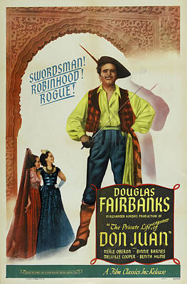 Open Impressionism California Desert Royalty Free Images - Movie poster for The Private Life of Don Juan, with Douglas Fairbanks, 1934 Royalty-Free Image by Stars on Art