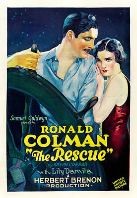 Open Impressionism California Desert Royalty Free Images - Movie poster for The Rescue, with Ronald Colman, 1929 Royalty-Free Image by Stars on Art