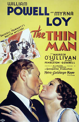 Bringing The Outdoors In - Movie poster for The Thin Man with William Powell, 1934 by Stars on Art