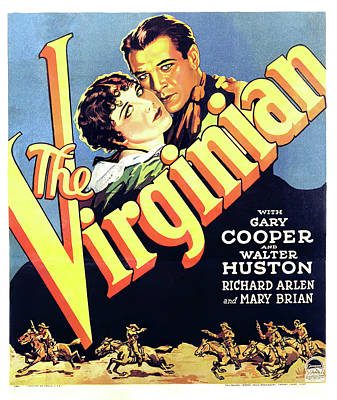 Personalized Name License Plates - Movie poster for The Virginian, with Gary Cooper, 1929 by Stars on Art