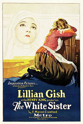Pop Art Rights Managed Images - Movie poster for The White Sister, with Lillian Gish, 1923 Royalty-Free Image by Stars on Art