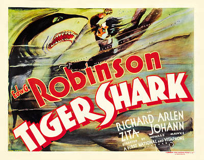 Kitchen Mark Rogan - Movie poster for Tiger Shark, with Edward G. Robinson, 1932 by Stars on Art