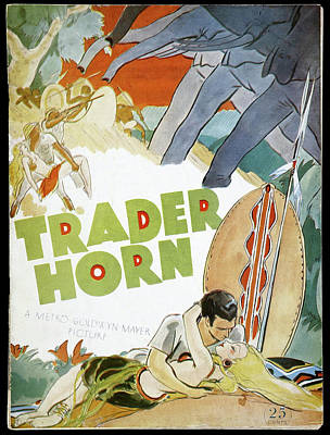 Farm Life Paintings Rob Moline - Movie poster for Trader Horn, 1931 by Stars on Art