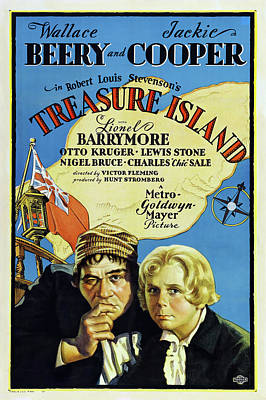 Open Impressionism California Desert Royalty Free Images - Movie poster for Treasure Island, with Wallace Beery and Jackie Cooper, 1934 Royalty-Free Image by Stars on Art