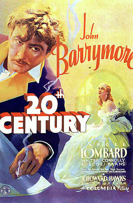Bringing The Outdoors In - Movie poster for Twentieth Century, with John Barrymore, 1934 by Stars on Art