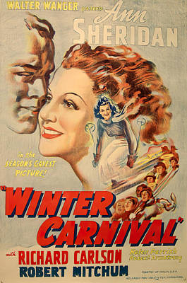 Pop Art Rights Managed Images - Movie poster for Winter Carnival, with Ann Sheridan, 1939 Royalty-Free Image by Stars on Art