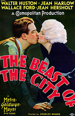 Open Impressionism California Desert Royalty Free Images - Movie poster The Beast of the City, with Walter Huston and Jean Harlow, 1932 Royalty-Free Image by Stars on Art