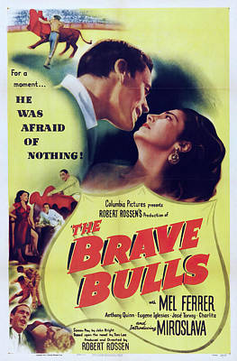 Open Impressionism California Desert Royalty Free Images - Movie poster The Brave Bulls, with Mel Ferrer, 1951 Royalty-Free Image by Stars on Art