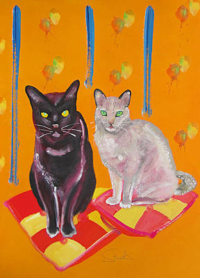 Priska Wettstein Pink Hues - Mr And Mrs Cat by Charles Stuart
