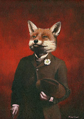 David Bowie Royalty Free Images - Mr Fox  Royalty-Free Image by Michael Thomas