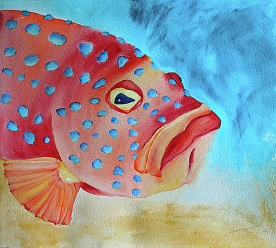 Painting - Mr. Grouper by Kathy Sturr