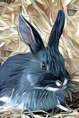 Movies Star Paintings - Ms. Rabbit by Pennie McCracken
