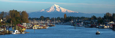 Royalty-Free and Rights-Managed Images - Mt. Hood From Hayden Island Bridge by Patrick Campbell