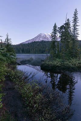 Christmas Christopher And Amanda Elwell - Mt. Ranier morning reflection by Murray Rudd