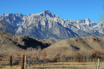 Christmas Cards - Mt Whitney From Highway 395 by Bill Gallagher