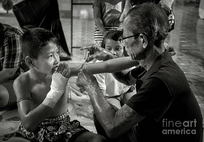 Lee Craker Royalty-Free and Rights-Managed Images - Muay Thai 202005082 by Lee Craker