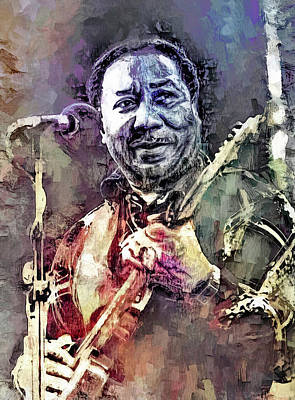 Keith Richards - Muddy Waters by Mal Bray