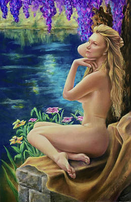 Pastel - Muse by Pond by John Entrekin