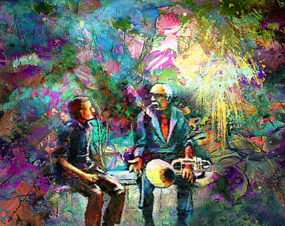 Musicians Royalty Free Images - Musician Talk In New Orleans Royalty-Free Image by Miki De Goodaboom