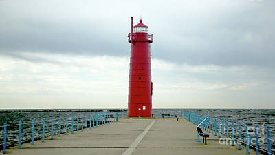 Purely Purple - Muskegon South Pierhead Lighthouse Light by John Wijsman