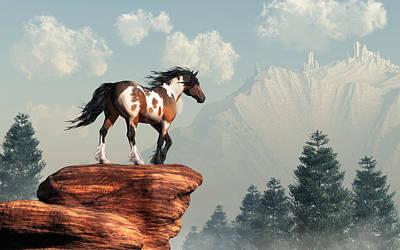Animals Digital Art - Mustang Valley by Daniel Eskridge
