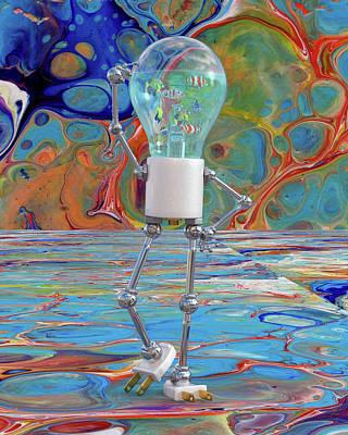 Surrealism Digital Art - My Head is Swimming  by Betsy Knapp