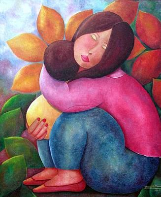 Painting - My Little Treasure by Claudette Dean