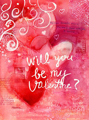 Typographic World - My Valentine 3 by Hailey E Herrera