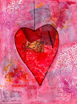 Coy Fish Michael Creese Paintings - My Valentine  by Hailey E Herrera