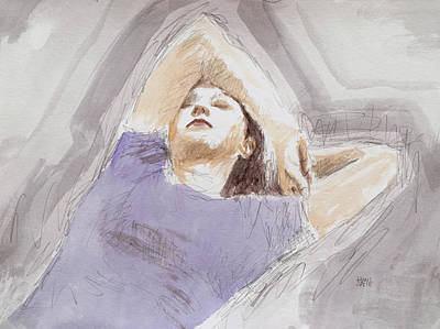 Painting - My Wife by Hans Egil Saele