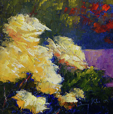 Painting - My Yellow Roses by Terry Chacon