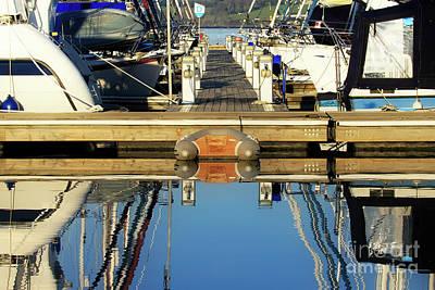 Lady Bug - Mylor Yacht Pontoon by Terri Waters