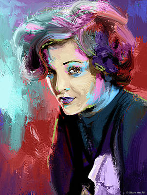 Stone Cold - Myrna Loy painting by Stars on Art