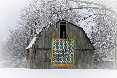 Sheep - Mysterious Quilt on Barn by Douglas Barnett