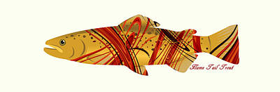 Animals Royalty-Free and Rights-Managed Images - Mystic Trout Series- Flame Tail Trout by Whispering Peaks Photography