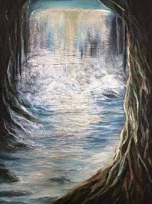Painting - Mystic Waterfall by Michelle Pier