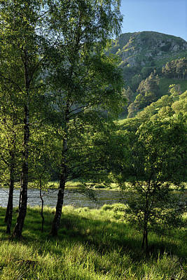Olympic Sports - Nab Scar mountain on the Rydal Water lake of River Rothay at Ryd by Reimar Gaertner