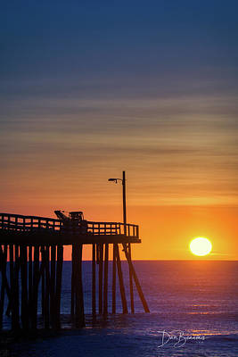 Dan Beauvais Royalty-Free and Rights-Managed Images - Nags Head Pier Sunrise 1184 by Dan Beauvais