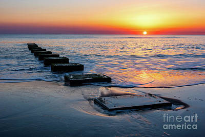 Personalized Name License Plates - Nags Head Sunrise by Anthony Heflin