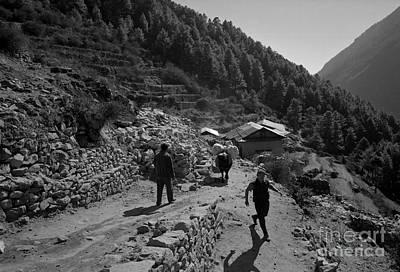 Olympic Sports - Namche Bazaar Everest Region Nepal 2005 by Jonathan Mitchell