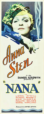 Curated Beach Towels - Nana, with Anna Sten, 1934 by Stars on Art