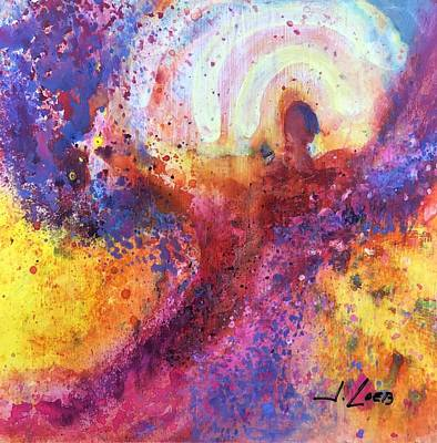 Painting - Nan's Angel by Jack Loeb