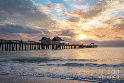 Royalty-Free and Rights-Managed Images - Naples Pier - Evening Florida by Brian Jannsen