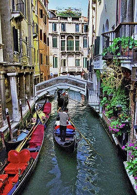Classic Christmas Movies - Narrow Venice Canal by Allen Beatty